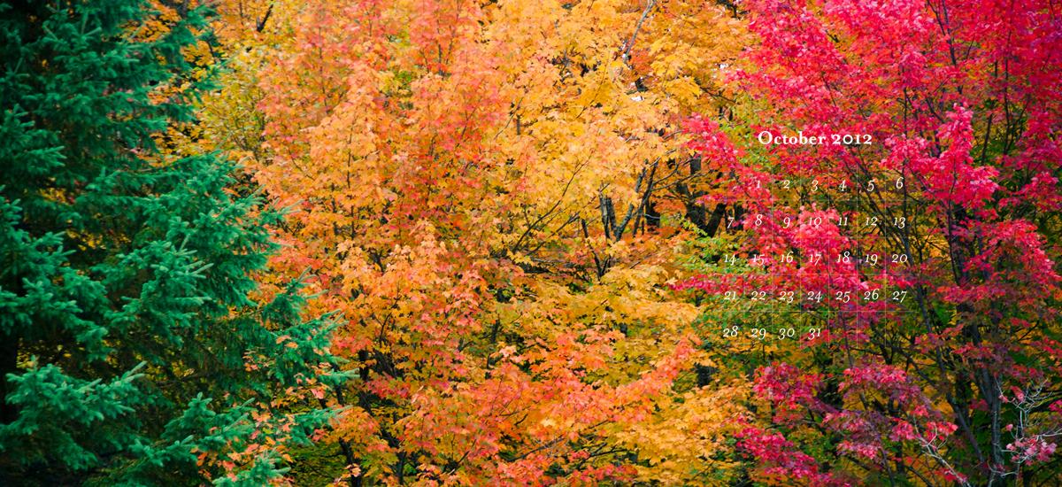 Free October 2012 Calendar