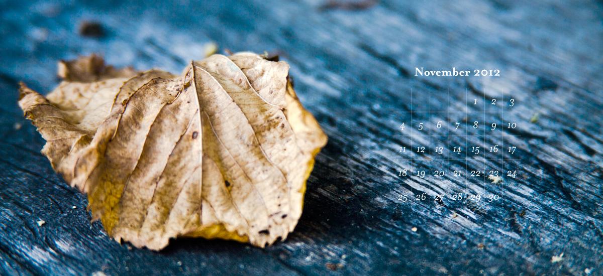Fond d'écran et calendrier gratuit – Novembre 2012