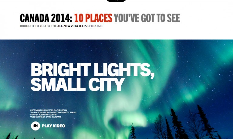 Northern Light Photo in Maclean's magazine